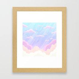 Pastel Heaven Framed Art Print
