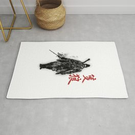 One Armed Wolf Rug