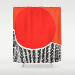 Sunshine And Rain Abstract Shower Curtain