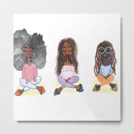 Meditation Swag Girls No. 1 Metal Print