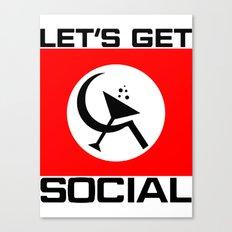 Let's Get Social Canvas Print