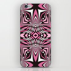 Pink Black and WHite Abstract iPhone Skin