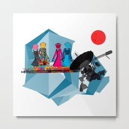 Space girls  Metal Print
