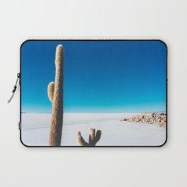 Cactus on Isla Incahuasi, Salt Flats, Bolivia Laptop Sleeve