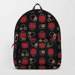 Cheerful ladybugs . Backpack