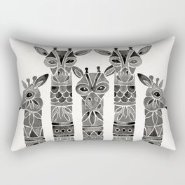 Black Giraffes Rectangular Pillow