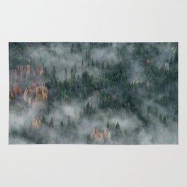 Foggy Yosemite Forest Rug