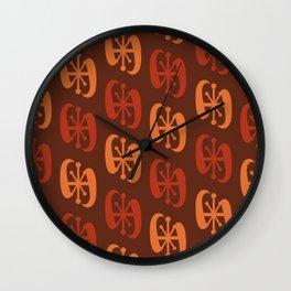 Starburst Bell Peppers Orange Wall Clock