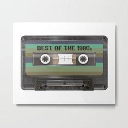Birthday made in 1980s, vintage Best of Cassette Tape birthday Tee Metal Print