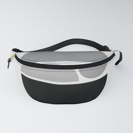 Zen Baby - Calm Abstract - Black White Grey Fanny Pack