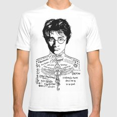 Harry Tattoo Potter White Mens Fitted Tee MEDIUM