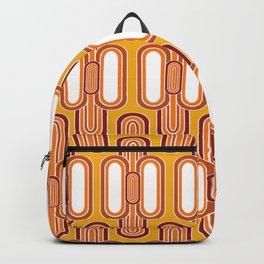1970's Retro Design Orange Brown White Backpack