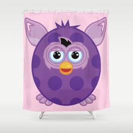 Purple Furby Shower Curtain