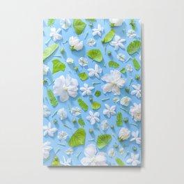 Leaves and flowers pattern (16) Metal Print