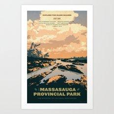 The Massasauga Engagement poster Art Print