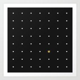 One Golden Cat  Art Print
