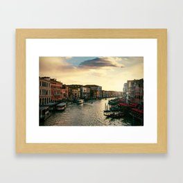 Venice on sunset Framed Art Print
