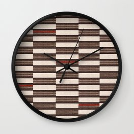 Flat Weavin 2 Wall Clock