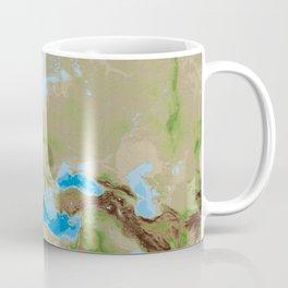 Topographic map of Europe Coffee Mug