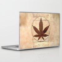 marijuana Laptop & iPad Skins featuring vitruvian marijuana by Emekli Astronot