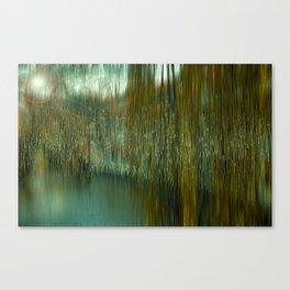 River Blau through the fisherman quarter Ulm Canvas Print
