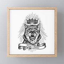 """Feast Or Famine"" – Crowned Wolf Framed Mini Art Print"
