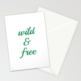 Wild and Free Stationery Cards