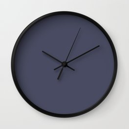 Dunn & Edwards 2019 Curated Colors Blue Suede Shoes (Dark Blue) DEA190 Solid Color Wall Clock