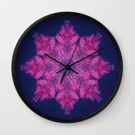 Cotton candy flower mandala Wall Clock