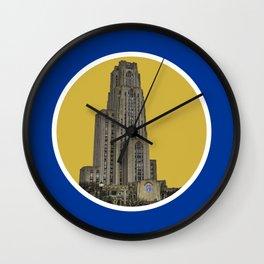 Pitt Campus Circle Print Wall Clock