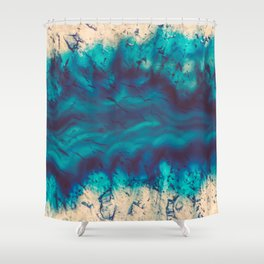 Blue Agate River of Earth Shower Curtain