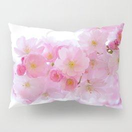 Pink Cherry Blossoms Pillow Sham