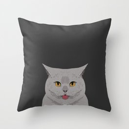 Kai - British shorthair cat gifts for cat lovers and cat lady gifts.  Cat people gifts Throw Pillow