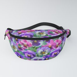 Bouquet of violets I Fanny Pack