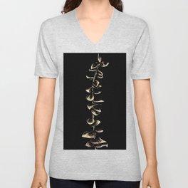 etched leaves Unisex V-Neck