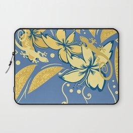 Samoan Orchid Sunset Polynesian Floral Laptop Sleeve