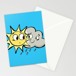 Sun and cloud Stationery Cards
