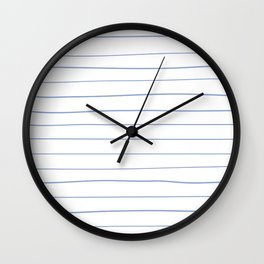 Freehand Stripes White Wall Clock