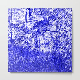 The Blue Forest Metal Print
