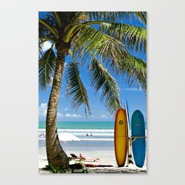 Kuta Beach with Longboard Canvas Print