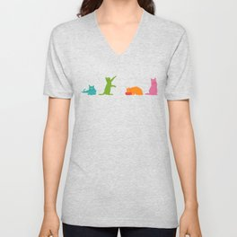 Cats Multicolor Unisex V-Neck