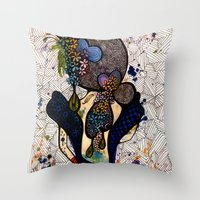 dorothy Throw Pillows featuring Dorothy by Luciana Pupo