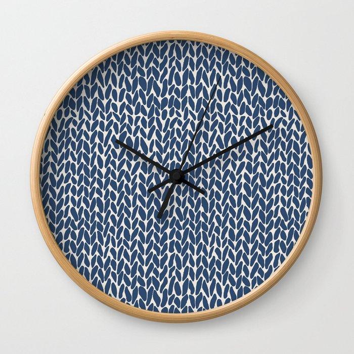 Hand Knit Navy Wall Clock