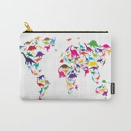 Dinosaur Map of the World Map Carry-All Pouch