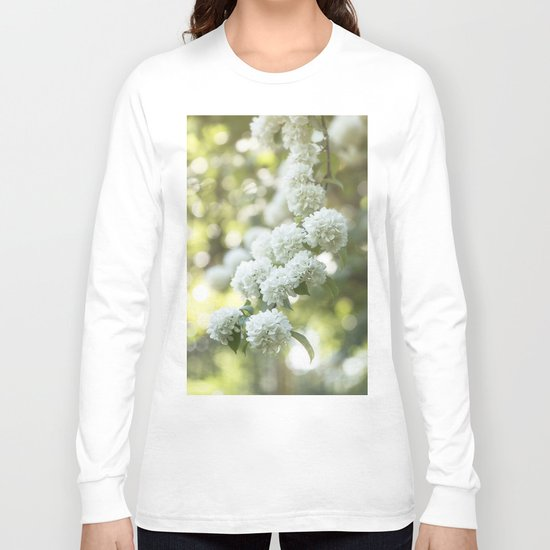 White Hydrangea at beautiful backlight- Flowers Floral Long Sleeve T-shirt