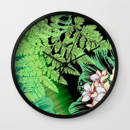 Cool Tranquility Wall Clock