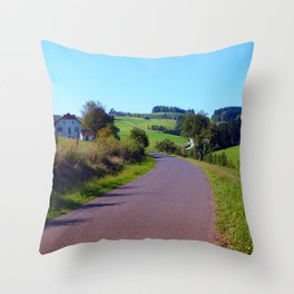 Country road with scenery II | landscape photography Throw Pillow