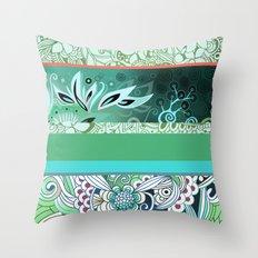 Designmix_green Throw Pillow