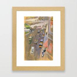Fifth Avenue New York By Joaquin Sorolla Framed Art Print