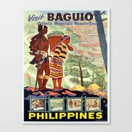 Vintage poster - Philippines Canvas Print